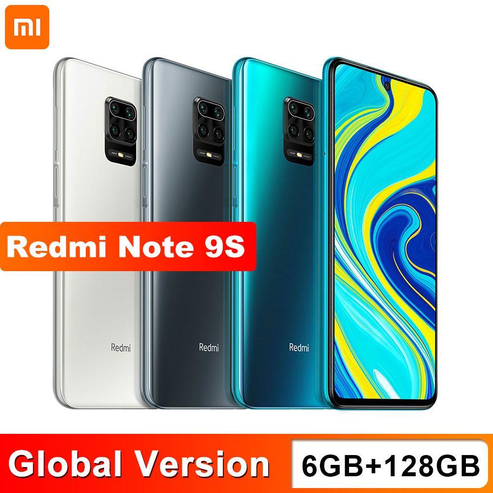 Xiaomi Redmi Nota 9s 6GB 128GB Versão Global Smartphone Snapdragon 720g Octa Core 5020 MAH 48MP Quad Camera Nota 9 s