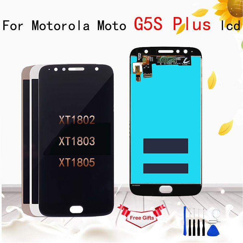"5.5"" 1920x1080 LCD For Motorola Moto G5S Plus XT1802 XT1803 XT1805 XT1086 LCD Screen Display Touch Glass Digitizer Assembly"