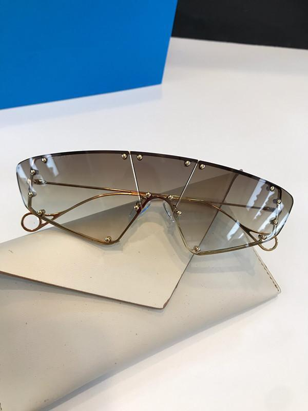 100902 moda di New Occhiali da Sole Retro senza telaio Occhiali da sole vintage stile punk Eyewear superiore protezione UV400 con la scatola