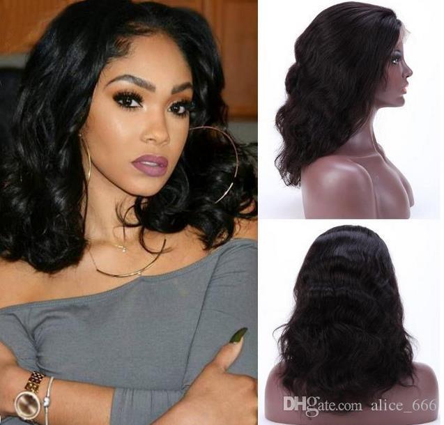 Популярные европейские и американские африканские даст черные короткие вьющиеся волосы париков шнурка переднего полную руку сплетенных химическое волокно волосы высокого класс розу