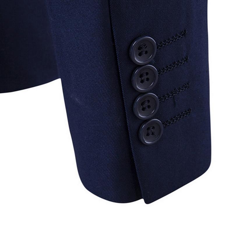 LITTHING 3 Pieces Business Blazer +Vest +Pants Suit Sets Men Autumn Fashion Solid Slim Wedding Set Vintage Classic Blazers Male