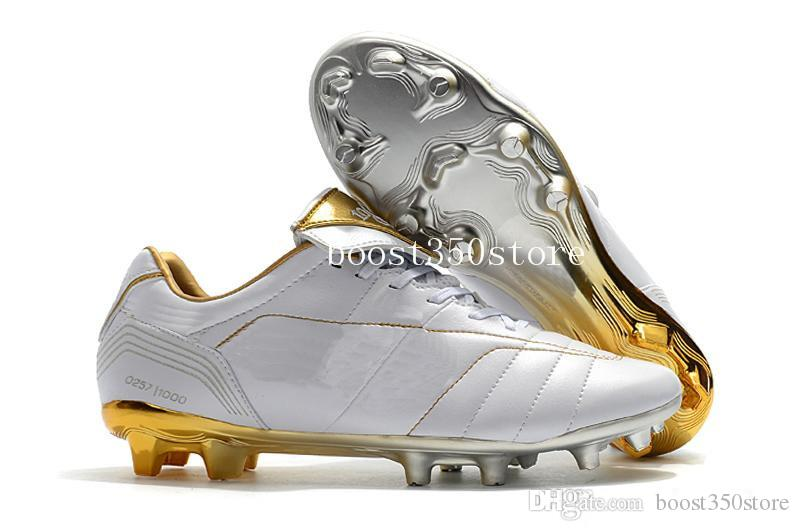 2018 Low Ankle Gold Tiempo Legend 7 R10 Elite Plating FG Football Shoes  Black White Soccer Cleats Size EUR39 45 UK 2019 From Boost350store, UK