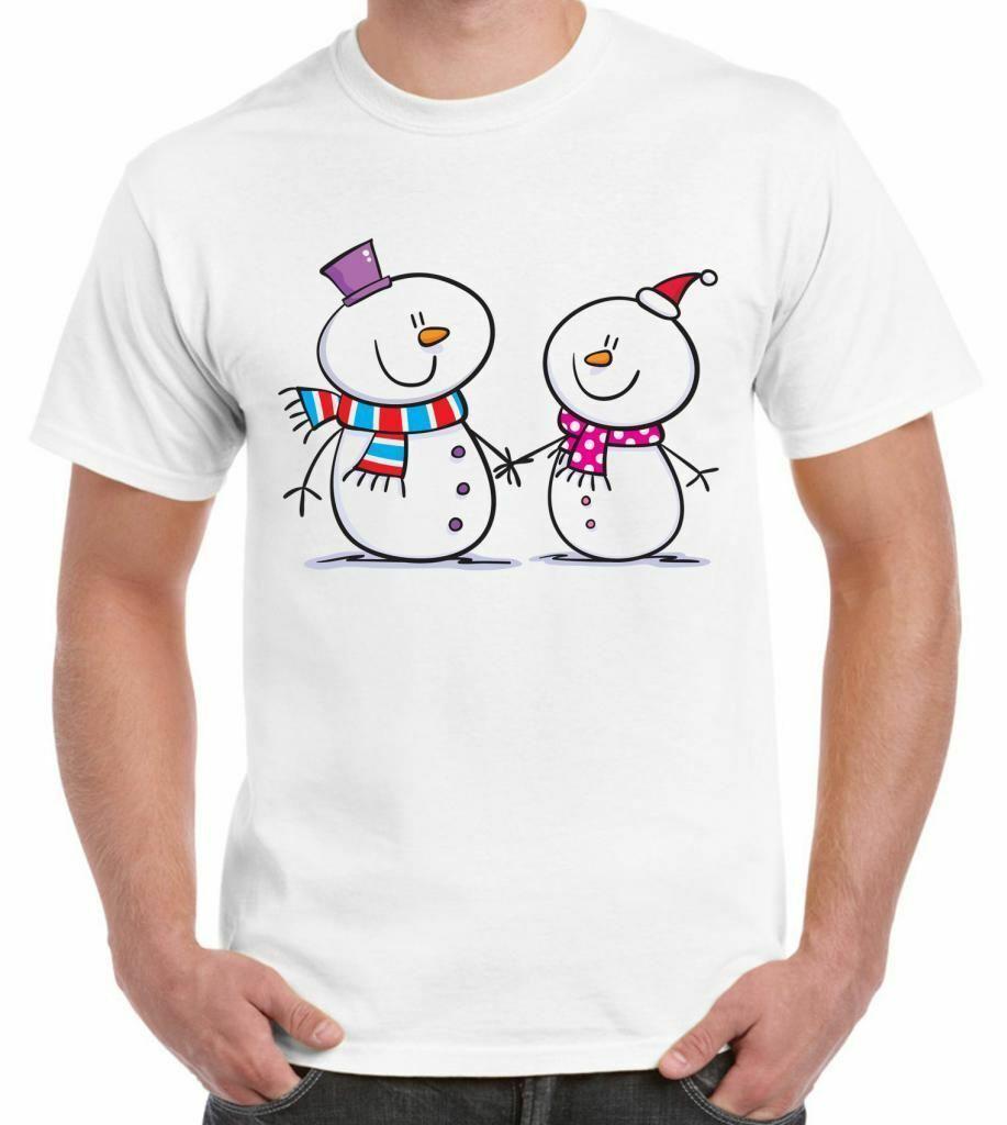 SNOWMAN SNOW MEN'S T-SHIRT - Смешные Рождественский подарок Подарок Xmas