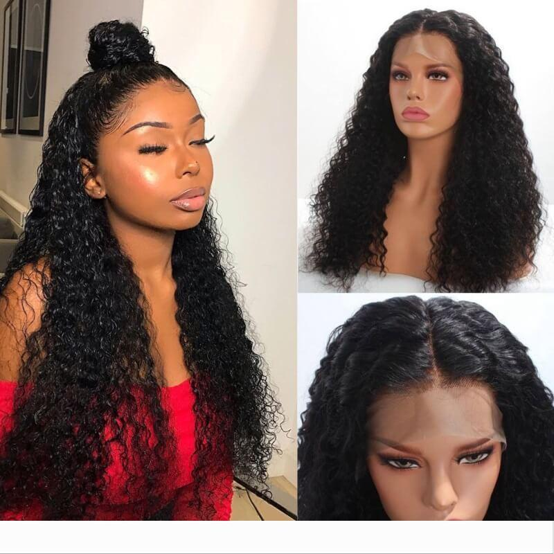 New Style Cheaper Curly 360 Lace Front Human Hair Wigs For Black Women 150% Remy Lace Wigs Brazilian Pre Plucked With baby hair