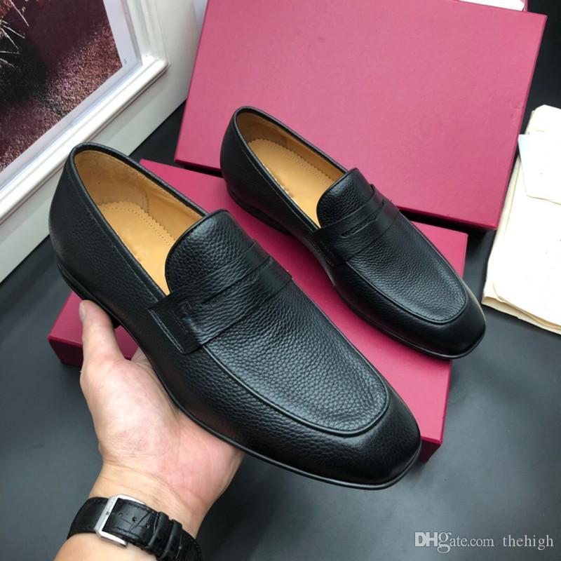 Luxe nouveaux styles de chaussures de robe bout pointu homme designer italien marques hommes chaussures habillées en cuir véritable chaussures de mariage de luxe noir hommes bas hee