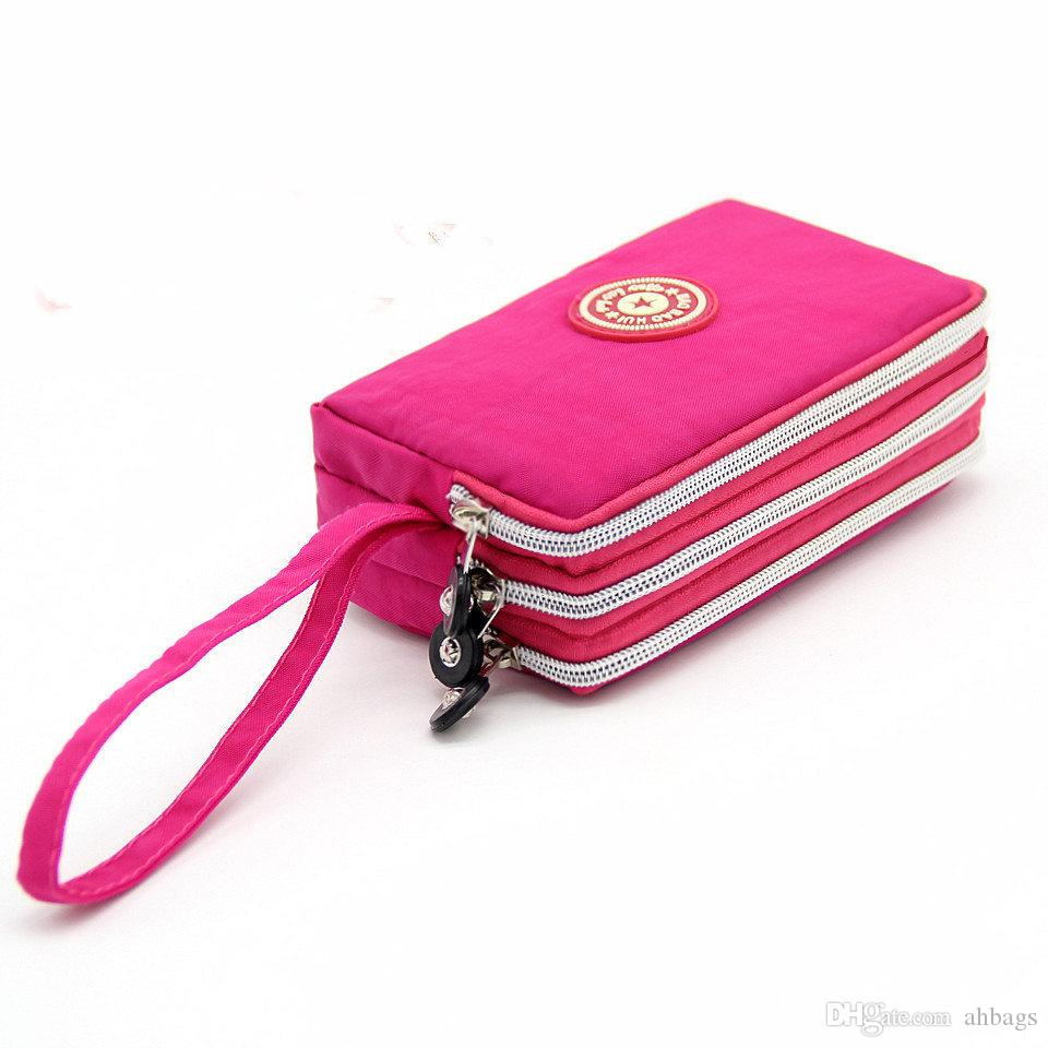 Women's Wallet Nylon Cloth Large Capacity Clutch Handbag Hand Holding Purse Coin Mobile Phone Purse Bag for Gift Party