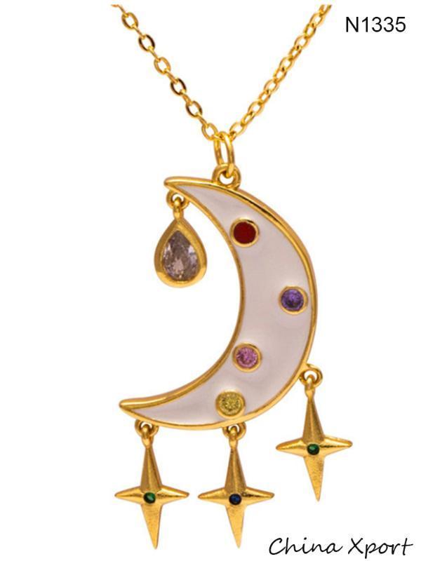 2020 Luna ciondolo collana amici amante collana d'avanguardia di alta qualità girocollo fantasia sneaker prefetto regalo collane popolari di disegno
