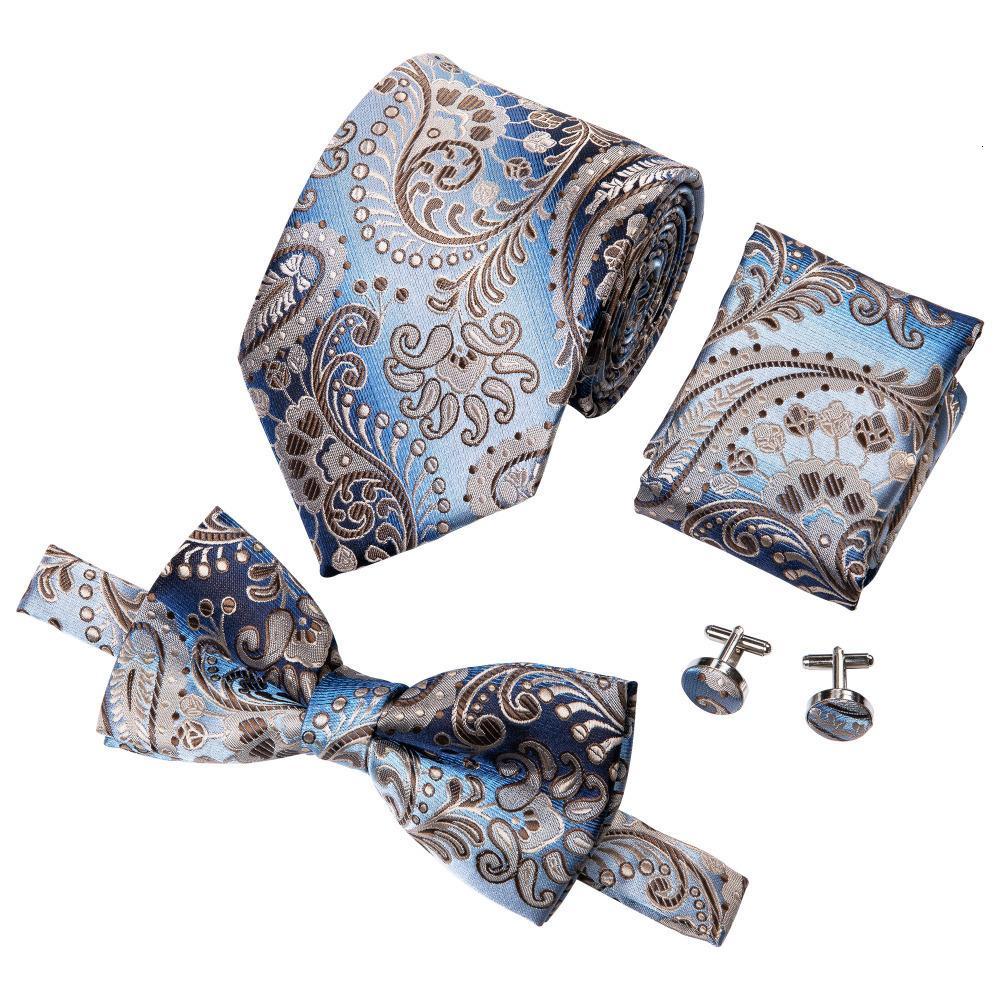 Masculino Ties Conjunto Praça de homens laço de seda Tie For Men Bowties lenço Abotoaduras gravatas para casamento dos laços do partido do negócio