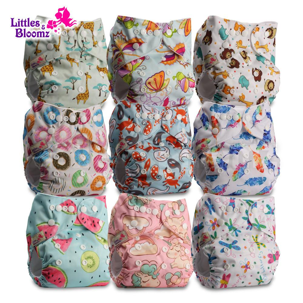 Pack of 2 Microfibre Littles /& Bloomz Reusable Cloth Nappy Inserts Booster
