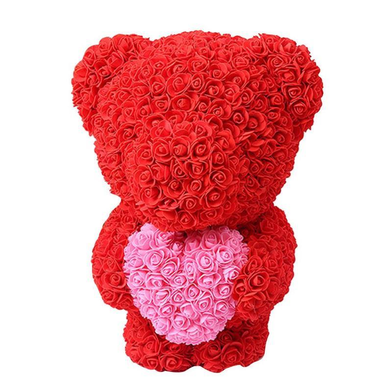 Artificial Rose Bär Puppen Rose Bär Schöne Romantische PE Geburtstag Liebe Freundin Simulierte Valentinstag