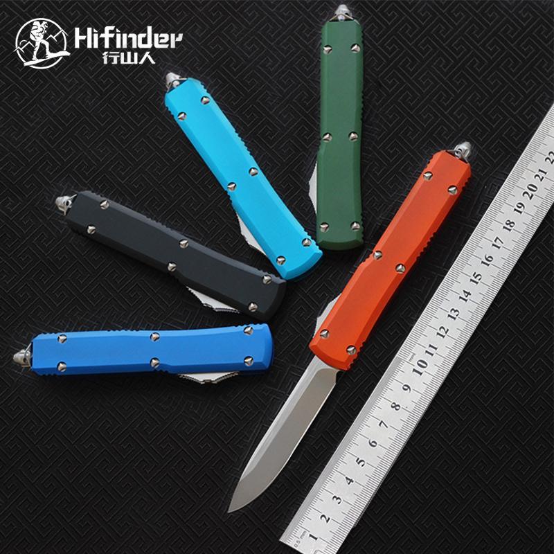 Hifinder Version Messerklinge: D2 (Satin) 6061-T6 Aluminium Griff Camping Überleben im Freien EDC Jagd taktischen Werkzeug Abendessen Küchenmesser