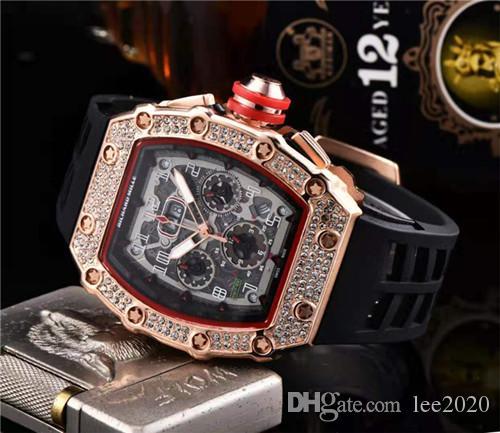 Bester Verkauf der Männer Uhrqualität Uhr schwarz Silikonband Mode Designer-Uhr-Sport-Quarz analoge Uhr Relogio Masculino