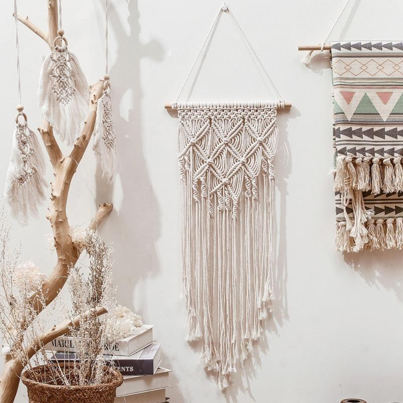 1 Handmade Woven Macrame Wall Hanging Tapestry Wedding Wall Decoration Backdrop Wall Home Living Room Home Decor Art Room Decorating Room Decoration Items From Globaltradingco 8 45 Dhgate Com