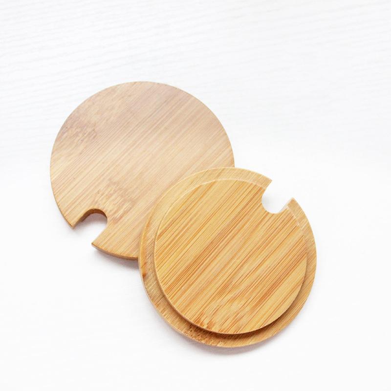 Taza de bambú Taza para taza de café Tarras de vidrio Bottle Tapa de madera Tapa de bambú Tazas de té tazas