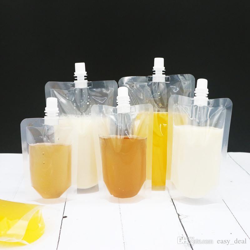 Boquilla de plástico bolsa de jugo de pie del Vino Leche café líquido Bebidas Frasco alimento libre Materiales Bolsas de almacenamiento yq01393