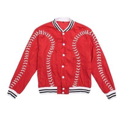 Luxo mens vermelho com cabo cruz evento de lazer   performance de palco  jaqueta de moda curta   estúdio   ÁSIA TAMANHO a8d259ddc2321