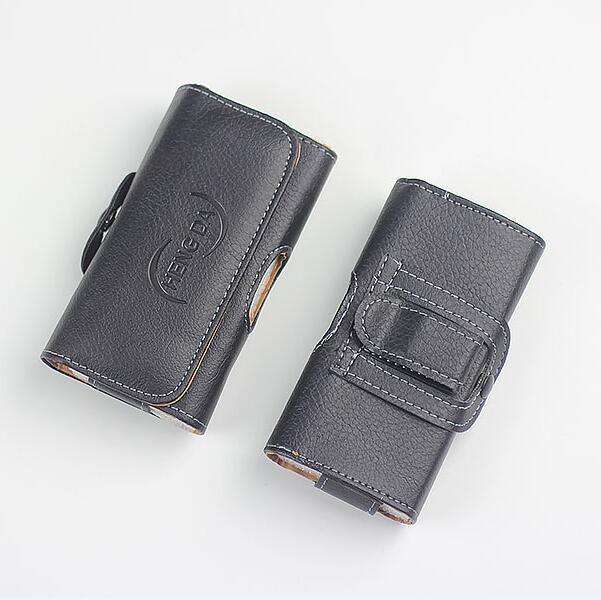 La bolsa de cubierta de la caja horizontal Monedero universal de cuero de la PU funda de teléfono de la bolsa de la cintura con clip de cinturón para el iphone 11 Pro Max XR X XS 8 7 6 6S plus