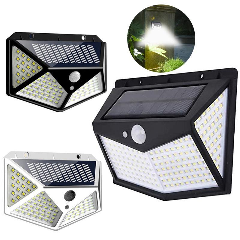 212 Solar LED de movimiento de la lámpara de pared exterior Sensor de luz de seguridad impermeables patio de luz LED solar al aire libre de la calle Jardín Patio