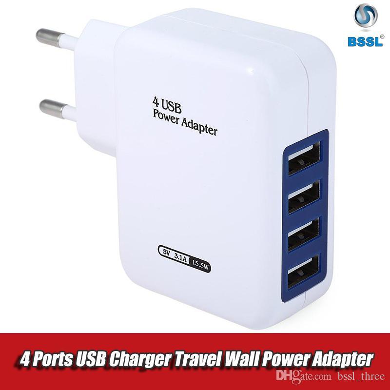 아이폰 아이패드 삼성 여행 벽 전력 공급 전화 충전기 접합기를 위한 5V2A EU 미국 마개 4 항구 USB 충전기 교류 전원 접합기
