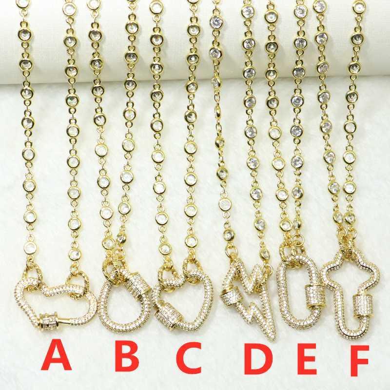 3pcs de cristal collar de cadena colgantes de circón enteros linea de accesorios para las mujeres mezclan tipos collar de cadena abierta para las mujeres 50646