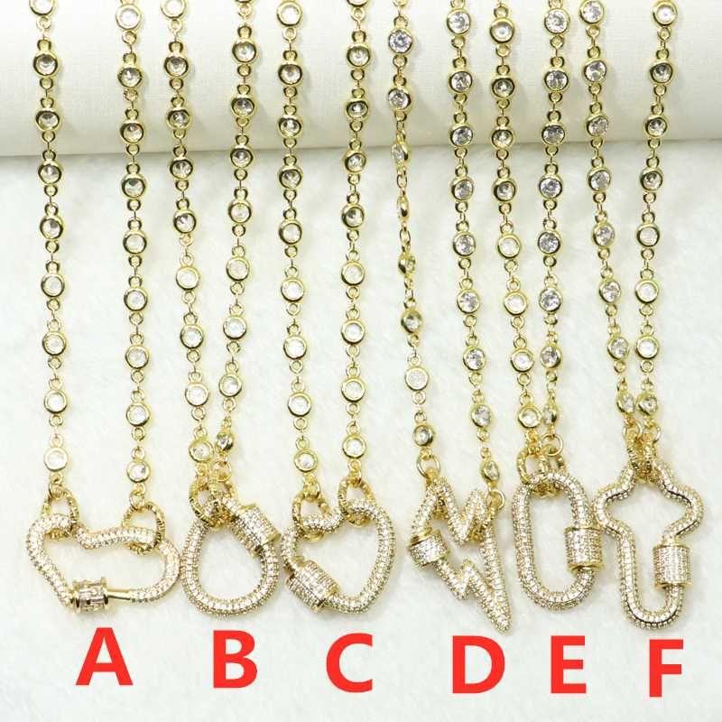 3шт Кристалл цепи ожерелье весь Циркон подвески аксессуары для женщин смешать виды открытой цепи ожерелье для женщин 50646