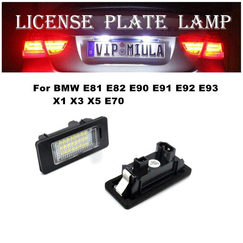 BMW X5 E70 X1 X3 için Plaka Lambası E81 E82 E90 E91 E92 E93 E60 6000 K 12 V BMW X5 E70 Için Araba Aksesuarları Boyutu 73x32x30mm