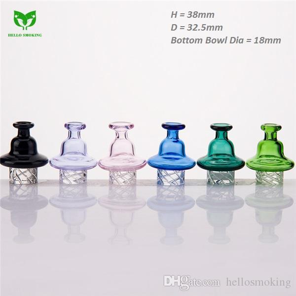 Cyclone Riptide Glass Carb Cap Fit 2mm Quartz Banger Nail of 25mm Bowl for Glass Bong Smoking Oil Wax Rig 946