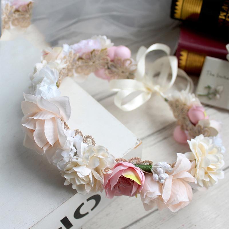 Mode de mariage couronne de fleurs Bandeaux florale Couronne Hairband mariage cheveux Garland filles cheveux de mariée Acessoires