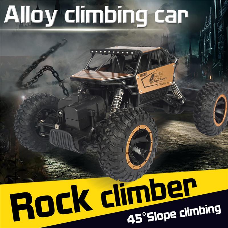 1/16 RC Car 4WD climbing Car Rock Crawler 4x4 Double Motors Drive Bigfoot Car Remote Control Model Vehicle Toys For Boys Kids
