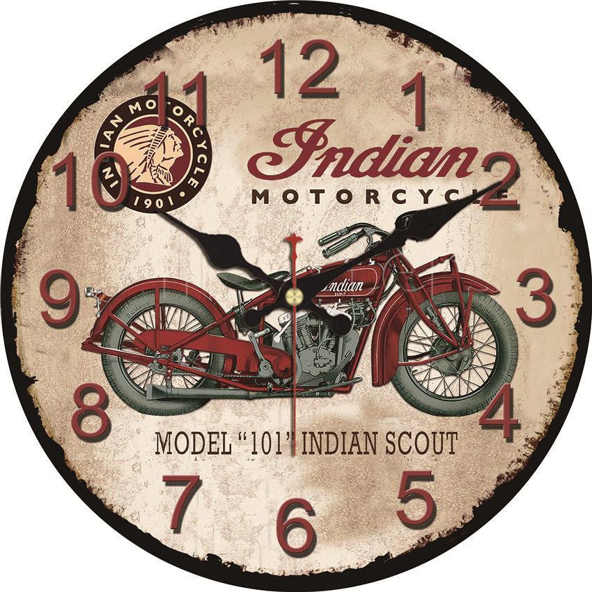 Shabby Chic Moto Design Horloges Décor À La Maison Bureau Café Cuisine Montres Murales Silencieux Horloges Murales Art Vintage Grande Horloge
