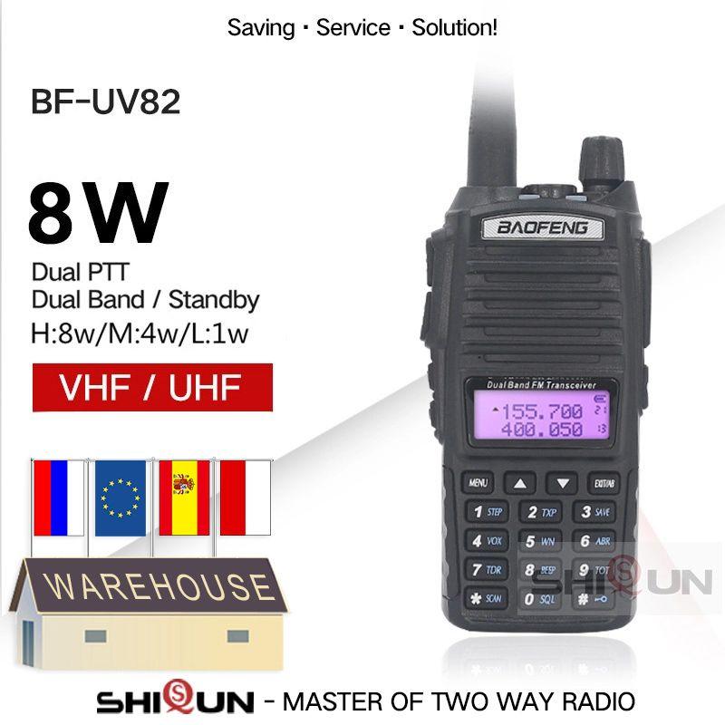 Cellphones & Telecommunications Upgrade -82 8W 82 Walkie Talkie 10 KM Baofeng 8W Radio Dual PTT UV-XR UV-9R GT-3TP