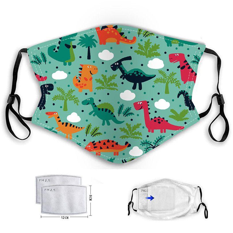 Tasarımcı yüz maskesi çocuklar araba miyav yüz maskeleri çocuk karikatür dinozor maskeleri PM2.5 toz geçirmez ve hava kirliliği yıkanabilir bebek maske kulak kancası