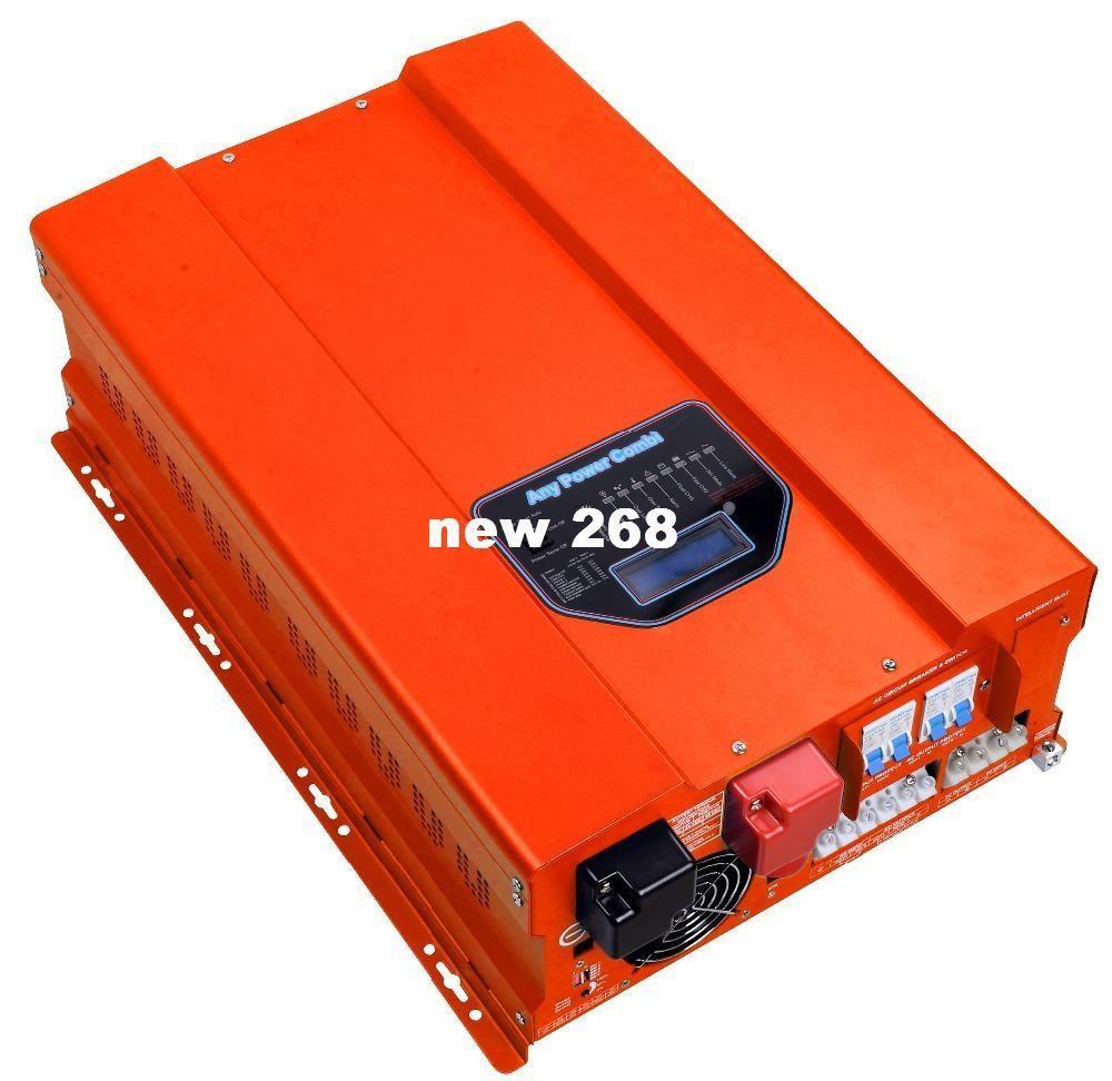 Freeshipping 48 V inversor de energia solar off inversor de energia 12kw com onda senoidal pura com controlador de carregador de bateria solar 40A