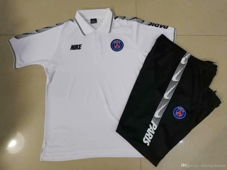 on sale dfaed c887c 2019 New 19 20 PSG Soccer Training Suit MBAPPE Tracksuit Suit CAVANI  VERRATTI Soccer Jerseys Paris Champions League Polo Football Shirt From ...
