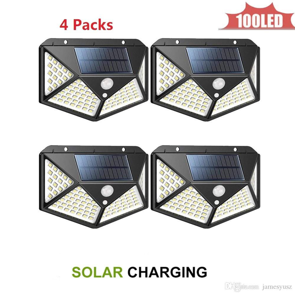 LED Garden Lights Solar Lawn Lamps Night Lights Arrival Solar-Powered Lawn Lamp Home Garden Creative Solar Lamps 4 sided 270°