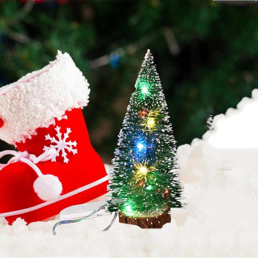 Tabletop Artificial Small Mini Christmas Tree With LED Lights Ornaments Xmas UK