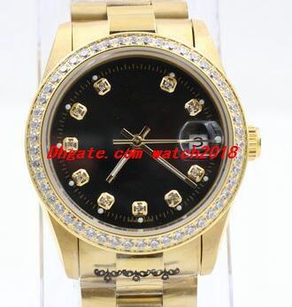 3 Estilo de frete grátis Men relógio de pulso Preto White Diamond Dial / da moldura Stee Pulseira homens do esporte de pulso relógios automáticos Assista Masculino