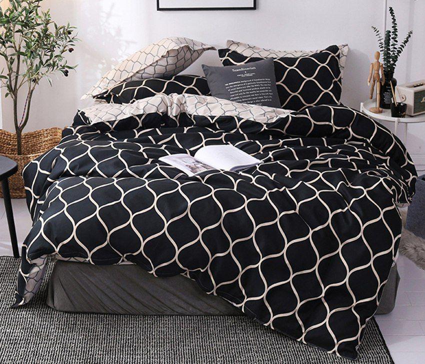 Новый высококачественный домашний текстиль кровать из трех частей набор без листов горячая одеяло крышка наволочка несколько стилей Twin180 * 220 см Full200*230 см