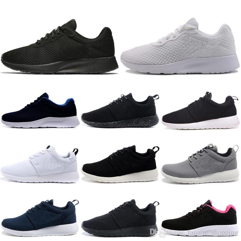 حذاء الجري Tanjun Run للرجال من تريبل أبيض أسود أولمبيك لندن حذاء رياضي رجالي رياضي رياضي 36-45