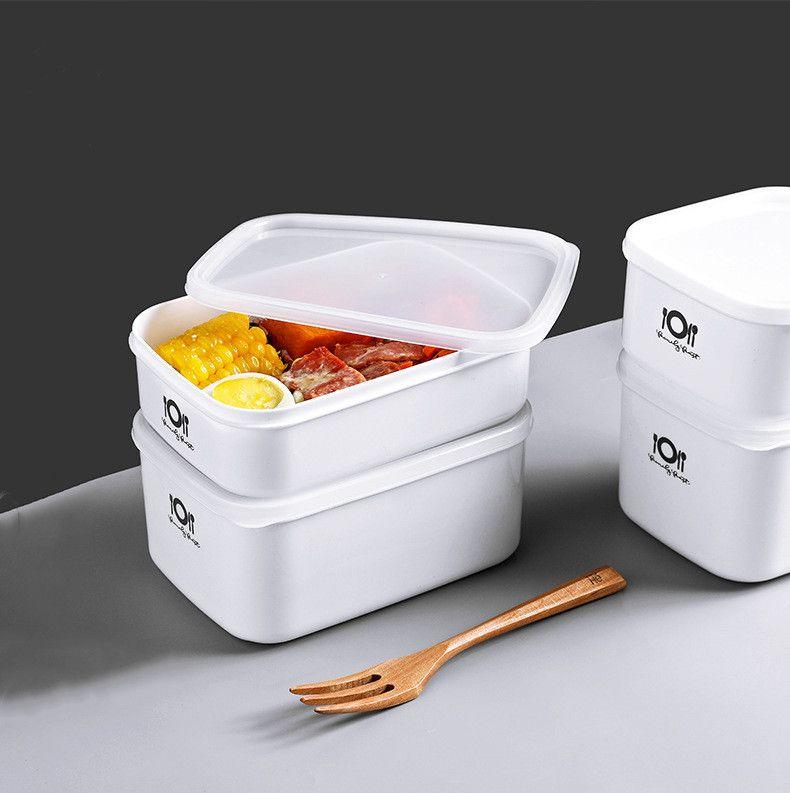 scatola di immagazzinaggio Frigorifero frutta con scatole di conservazione degli alimenti Lunch Box piccole scatole di pranzo coperchio di plastica sigillato bento box materiale PP PE