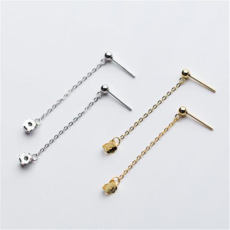 Accessori Le donne DoreenBeads Moda Orecchini per l'argento sterlina S925 branello rotondo orecchini catena gioielli regalo