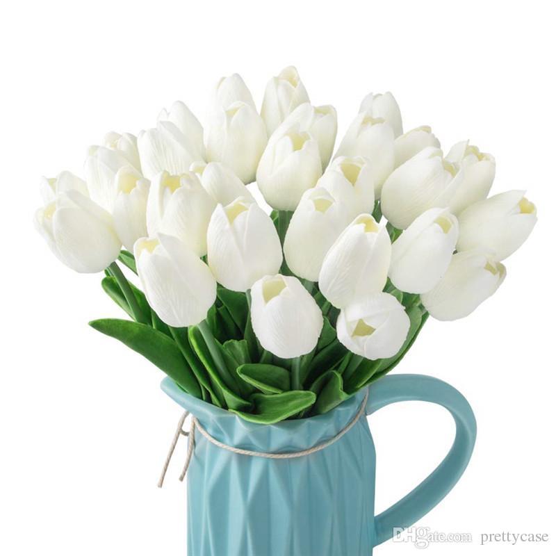 PU Fiore lattice tulipani artificiale Bouquet di fiori di nozze per la casa festa hotel di compleanno di Natale decorazione floreale