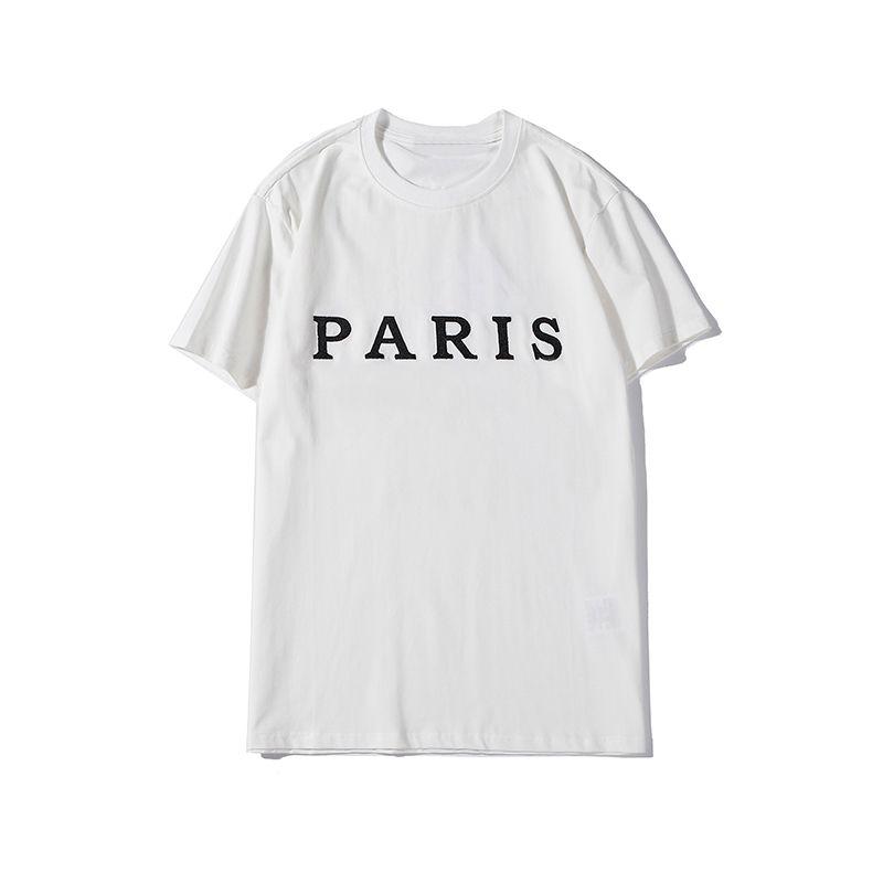 Uomo Donna Mens Stylist maglietta di modo di stampa Lettera Mens Stylist Maniche corte nero di alta qualità Hip Hop Tees
