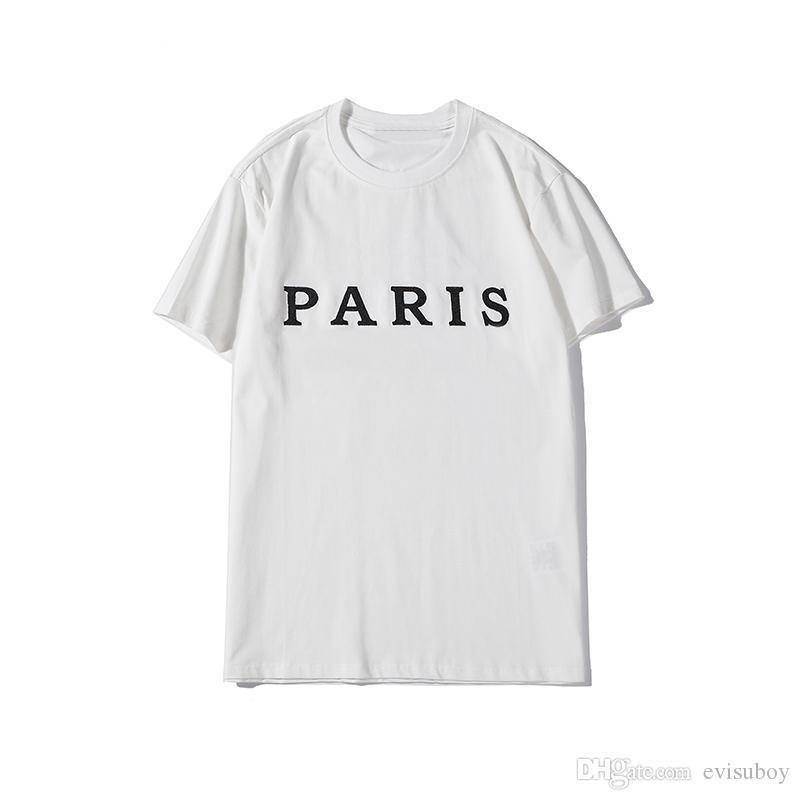 نوعية الرجال الرجال المصمم T قميص الموضة طباعة رسالة رجل المصمم بأكمام قصيرة أسود أبيض نسائية عالية الهيب هوب تيز