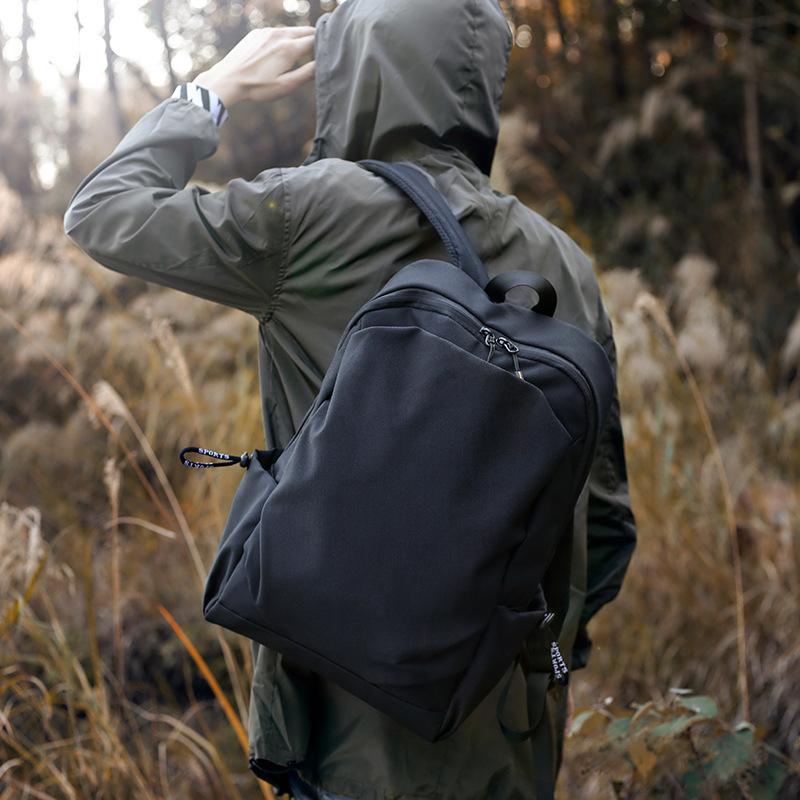 Nuovo tessuto leggero Schoolbag nero sport zaino da viaggio impermeabile esterna sacchetto di scuola media computer di uno studente del panno di Oxford zaino