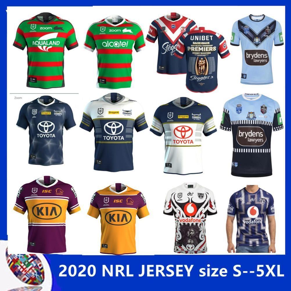 2020 Australis Sydney Gallos rugby jersey 2020 BLUES SUR SYDNEY Rabbitohs NSW guerrero tamaño North Queensland Cowboys HOME JERSEY S-5XL