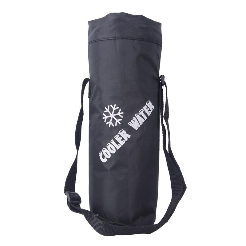 Universal Drawstring Water Bottle Pouch High Capacity Insulated Cooler Bag Outdoor Traveling Camping Hiking Water Bags