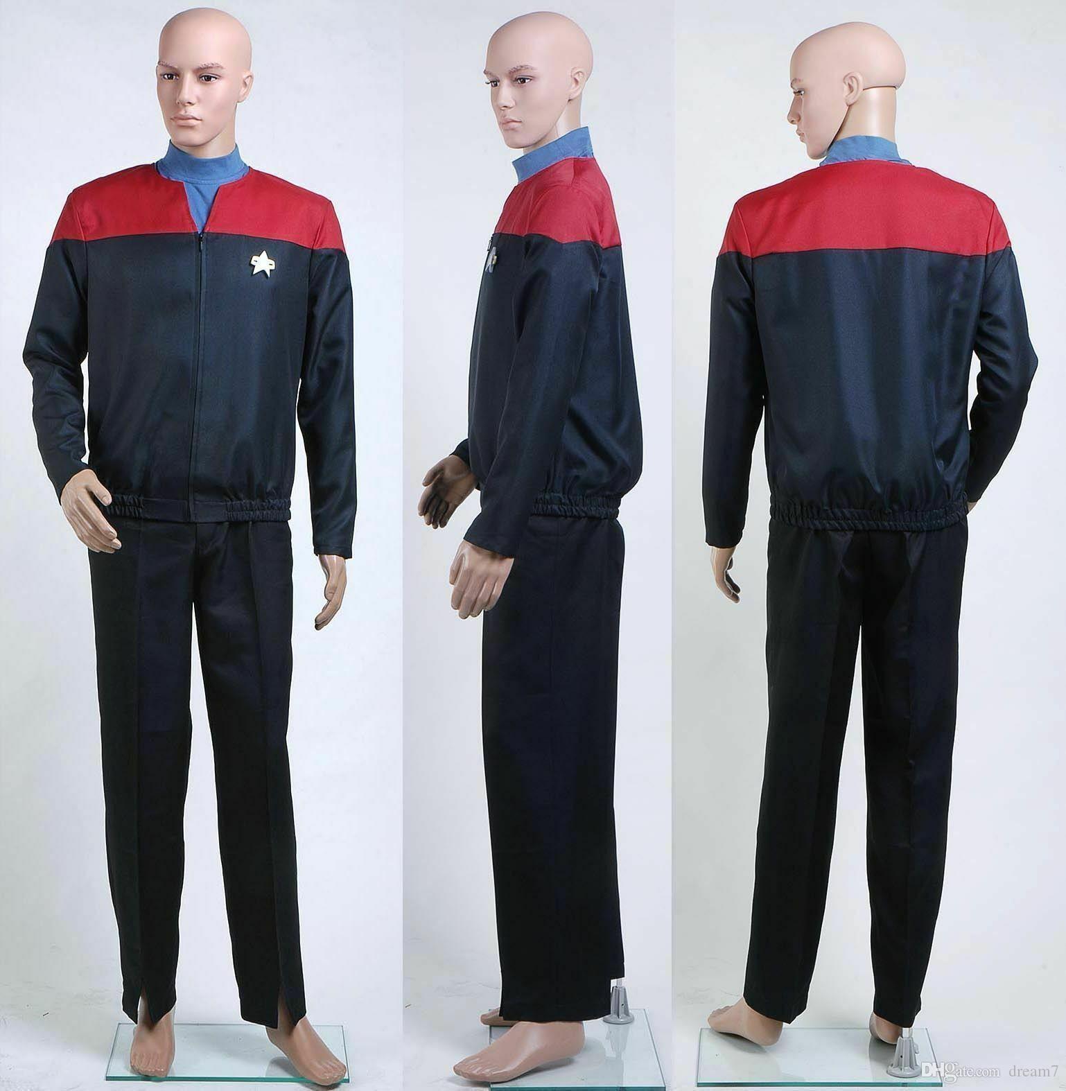 NUOVO! Star Trek Voyager Comando costume uniforme Insieme completo rosso su ordine