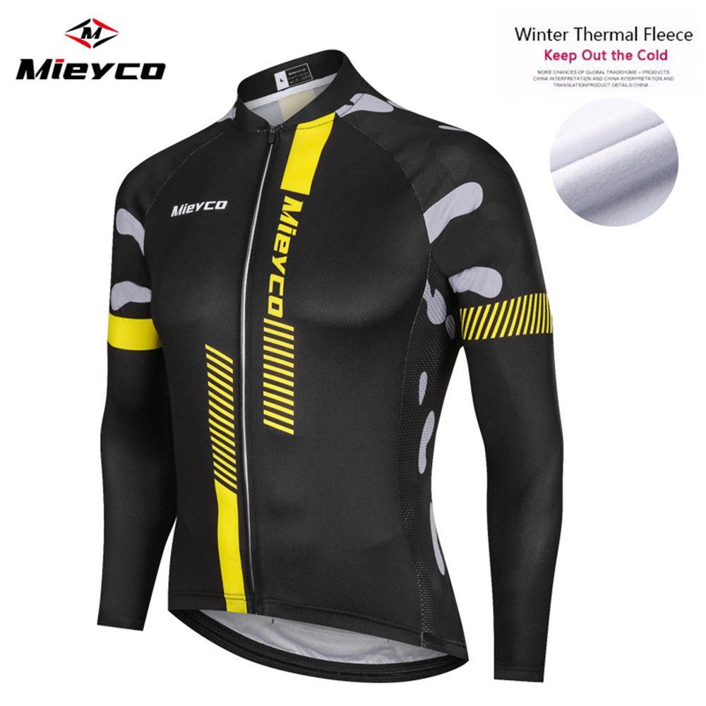 2020 de invierno polar Camisetas de bicicleta Jersey manga larga Ropa MTB ropa guarda chaqueta caliente bicicleta espesan la bici del camino de la montaña Jersey
