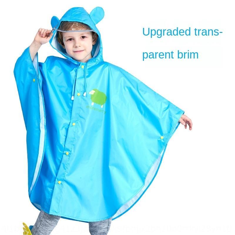 Smally Kinderregenmantel Schulranzen für Jungen und Mädchen Poncho Kinderkindergartentasche Mantelmantel Wanderreitregenmantel